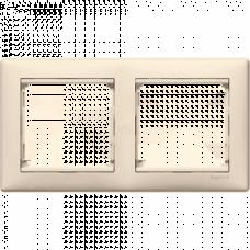 Рамка 2-пост Valena 774352 слоновая кость