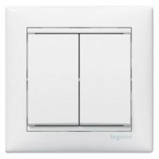 Выключатель 2-кл Valena 774405 белый