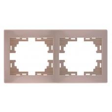 Рамка 2-ая горизонтальная без вставки LEZARD MIRA крем