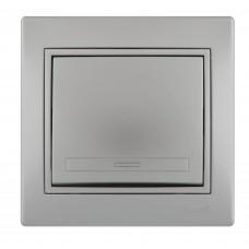 Выключатель LEZARD MIRA металлик серый