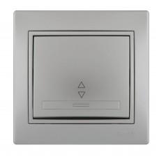 Выключатель проходной LEZARD MIRA металлик серый