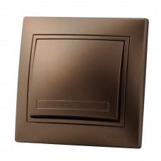 Выключатель LEZARD MIRA светло-коричневый перламутр