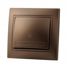 Кнопка звонка LEZARD MIRA светло-коричневый перламутр