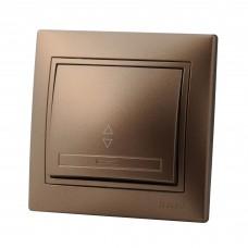 Выключатель проходной LEZARD MIRA светло-коричневый перламутр