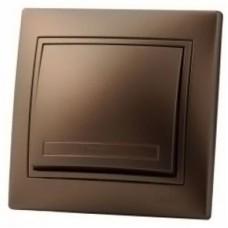 Выключатель с подсветкой LEZARD MIRA светло-коричневый перламутр
