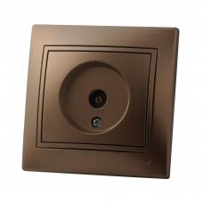 Розетка ТВ оконечная LEZARD MIRA светло-коричневый перламутр