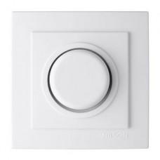 Выключатель диммер 300W проходной с подсветкой (Nilson Touran -белый) 24121054