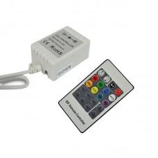 Радио RGB контроллер 6А (радио пульт на 20 кнопок)