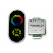RGB радио контроллер 18А Black (сенсорный радио пульт)