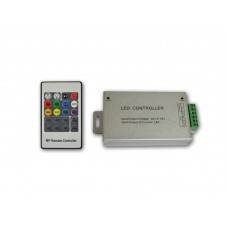 RGB радио контроллер ALLUMINIUM RF 24А, 20 кнопок на пульте