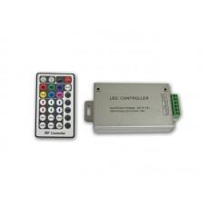 RGB радио контроллер ALLUMINIUM RF 24А, 28 кнопок на пульте