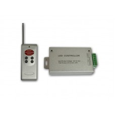 RGB радио контроллер ALLUMINIUM RF (24А, 6 кнопок на пульте)