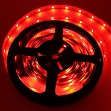 Светодиодная лента LED SMD 3528, 60шт/м, IP33, красный