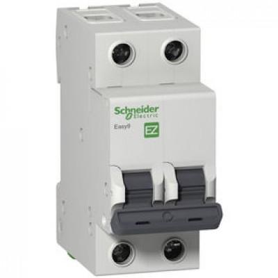 Автоматический выключатель 2Р, 50А, тип С, EZ9F34250