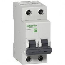 Автоматический выключатель 2Р, 63А, тип С, EZ9F34263