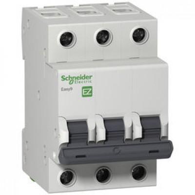Автоматический выключатель 3Р, 63А, тип С, EZ9F34363
