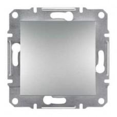Выключатель 1-клавишный, алюминий, Schneider Asfora