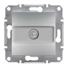 Розетка TV концевая (1 дБ), алюминиевый, Schneider Asfora