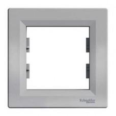 Рамка 1-постовая, алюминиевый, Schneider Asfora