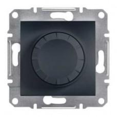 Светорегулятор поворотный 600 ВА, антрацит, Schneider Asfora