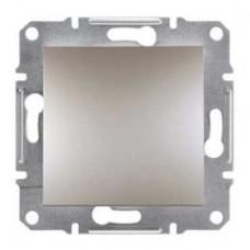Переключатель 1-клавишный проходной, бронза, Schneider Asfora