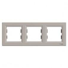 Рамка 3-постовая, горизонтальная, бронза, Schneider Asfora