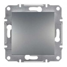 Переключатель 1-клавишный проходной, сталь, Schneider Asfora