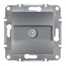 Розетка TV концевая (1 дБ), сталь, Schneider Asfora