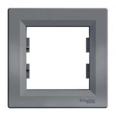 Рамка 1-постовая, сталь, Schneider Asfora