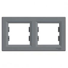 Рамка 2-постовая, горизонтальная, сталь, Schneider Asfora