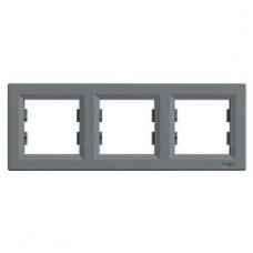 Рамка 3-постовая, горизонтальная, сталь, Schneider Asfora