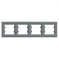 Рамка 4-постовая, горизонтальная, сталь, Schneider Asfora