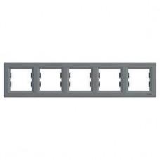 Рамка 5-постовая, горизонтальная, сталь, Schneider Asfora