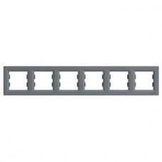 Рамка 6-постовая, горизонтальная, сталь, Schneider Asfora