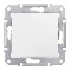 Выключатель одноклавишный белый Sedna SDN0100121