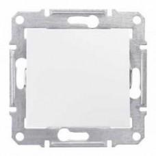 Переключатель одноклавишный белый Sedna SDN0400121