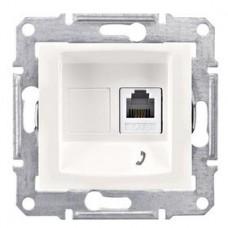 Розетка телефонная белый Sedna SDN4101121