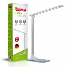 EUROLAMP LED Светильник настольный металлический + стекло в стиле хайтек 5W 5300-5700K серебристый