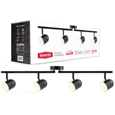 Спотовый светильник MAXUS MSL-01C 4x4W 4100K черный