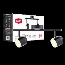 Спотовый светильник MAXUS MSL-01C 2x4W 4100K черный