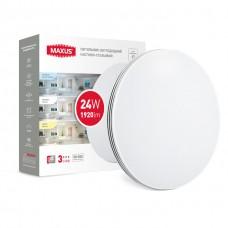 Умный накладной светильник MAXUS 3-step 24W 3000-6500K круг