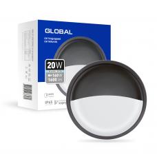 Антивандальный LED-светильник GLOBAL GBH 07 20W 5000K графит (круг)
