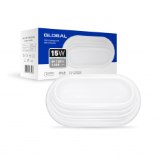 Антивандальный LED-светильник GLOBAL GBH 05 15W 5000K белый (эллипс)