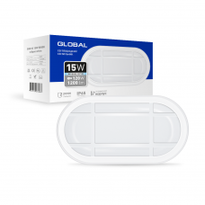 Антивандальный LED-светильник GLOBAL GBH 03 15W 5000K белый (эллипс)