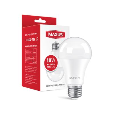 Лампа светодиодная MAXUS 1-LED-776 A60 10W 4100K 220V E27