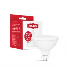 Лампа светодиодная MAXUS 1-LED-722 MR16 7W 4100K 220V GU5.3