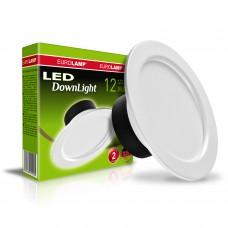 Светодиодный EUROLAMP LED Светильник круглый DownLight 12W 3000K