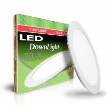 Светодиодный EUROLAMP LED Светильник круглый Downlight 20W 4000K