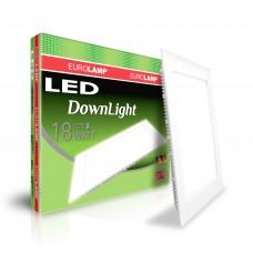 Светодиодный EUROLAMP LED Светильник квадратный DownLight 18W 4000K