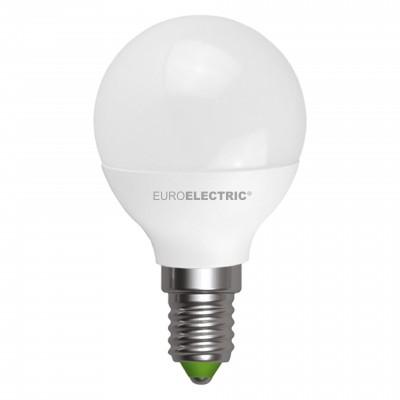 """Светодиодная EUROELECTRIC LED Лампа """"Шар"""" ЕКО G45 5W E14 4000"""
